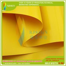 Coated Pvc Tarpaulin Rjcp002-3g Yellow